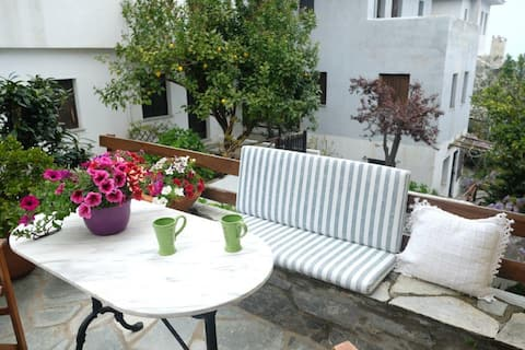 Studio with beautiful courtyard in Damouchari