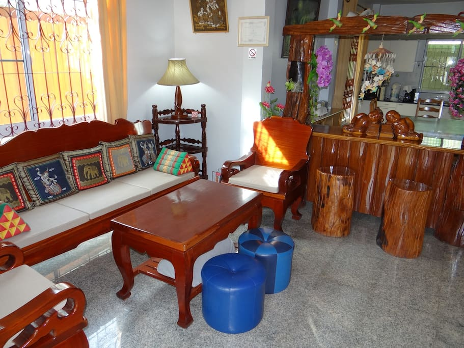 Thai style furnished living room