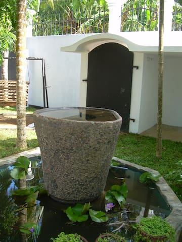 The pond made using a chekku; which was used to extract oil by ancient Sri Lankans
