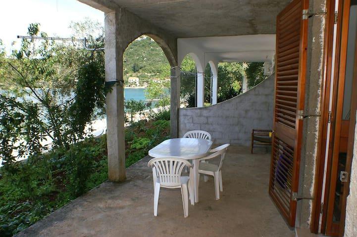 Dwupokojowy apartament przy plaży Luka Dubrava (Peljesac) (A-4568-b)