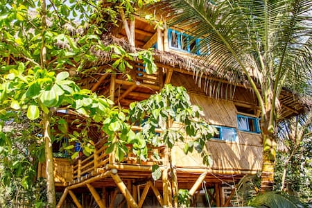 Tropical Bamboo Paradise Beach Home