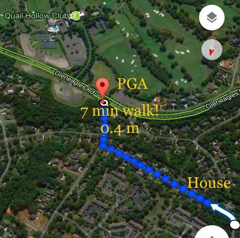 Walk down our street, turn R...Hello, PGA!