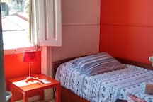 Red room in the city center