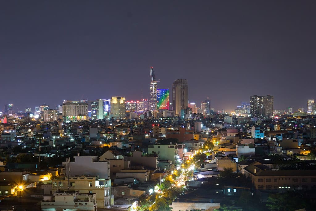 Enjoy the perfect unobstructed view of Saigon skyline