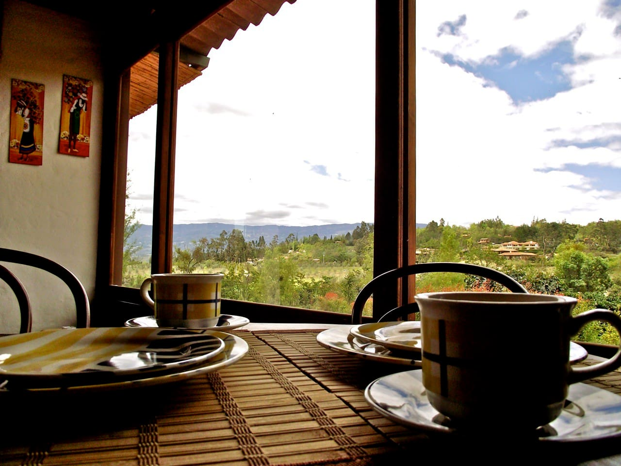 Spectacular view from your breakfast table.
