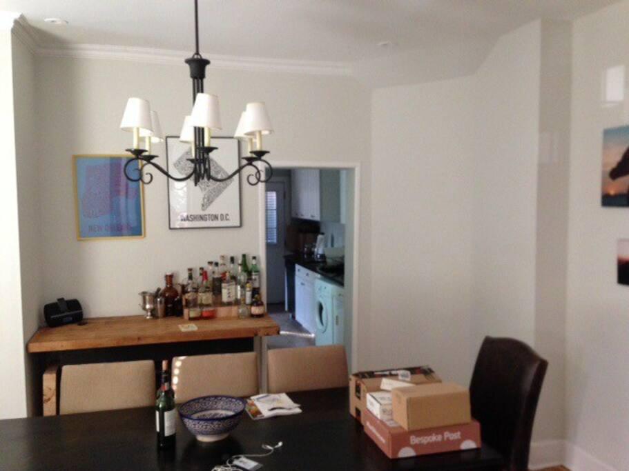 Dining room for easy entertaining