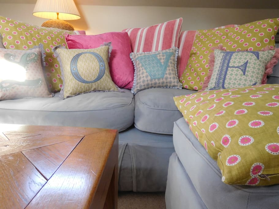 Garden Lodge has 2 large comfy sofas- perfect for chilling and reading
