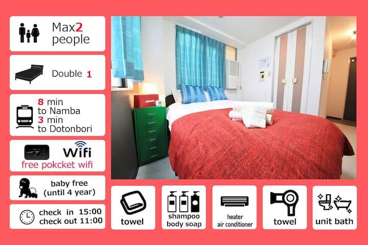 Special Discount Prise!!!★Dotonbori area★3F05 - Ōsaka-shi - Apartemen