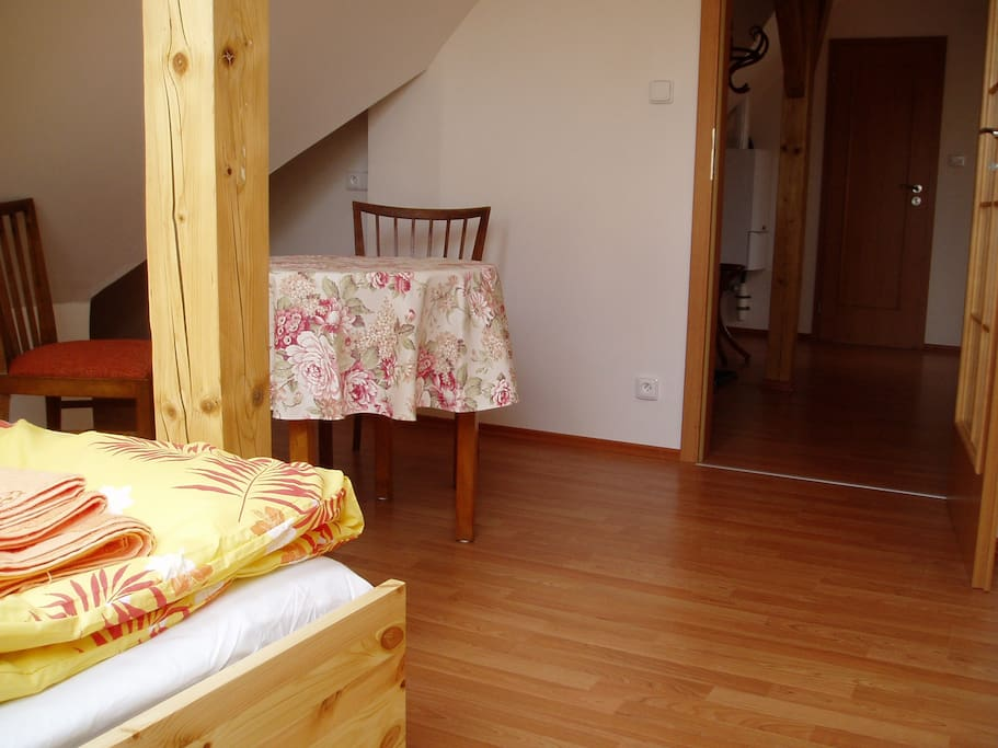 Bedroom and entrance hall