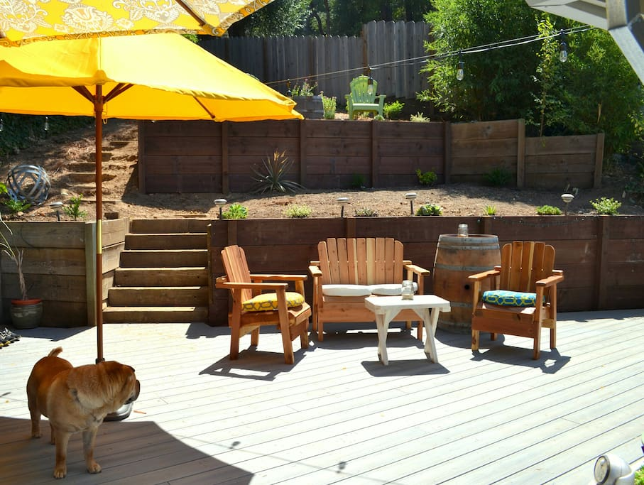 Our deck during the day (dog not included :)