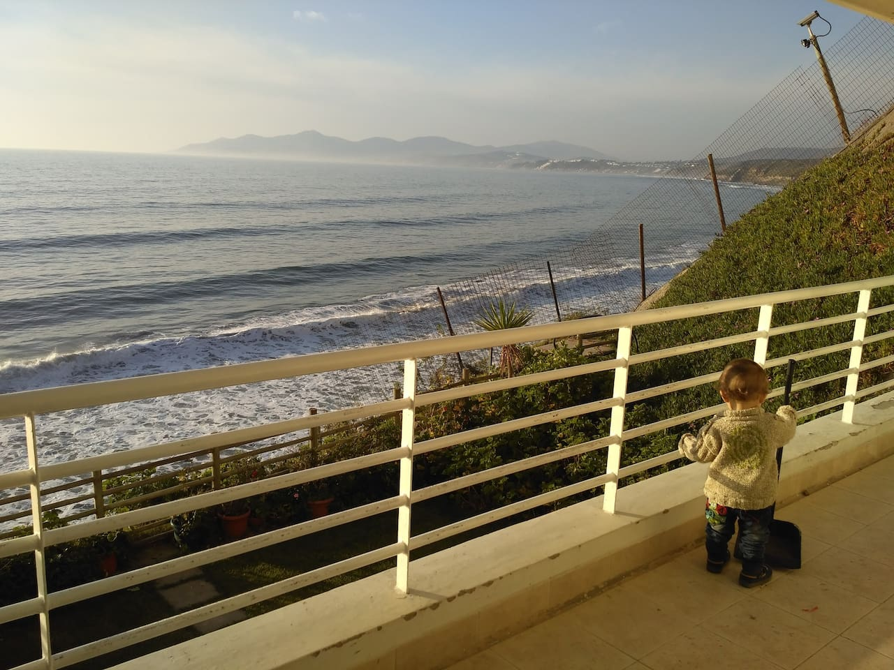 The view to the north, You can see Maitencillo, a surfers break.