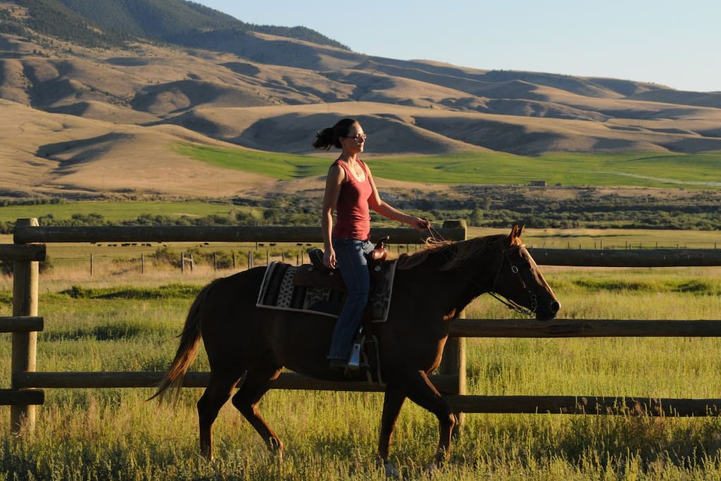 Horseback on the ranch