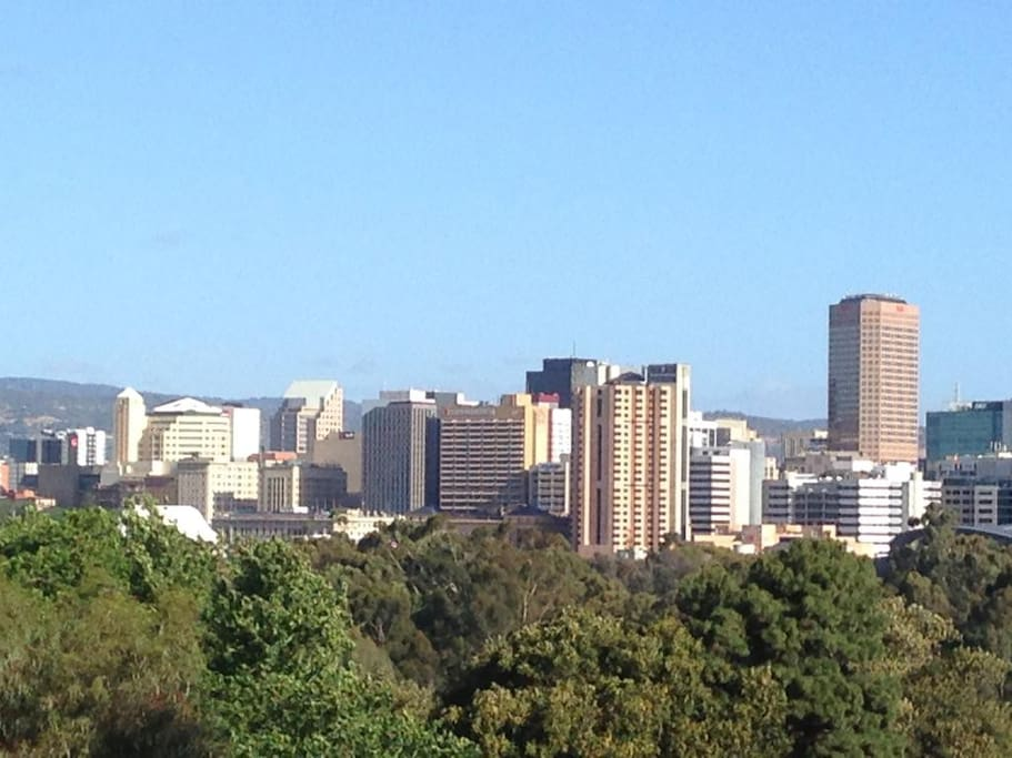 Great views of Adelaide city skyline