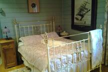 brass bed with state of the art mattress