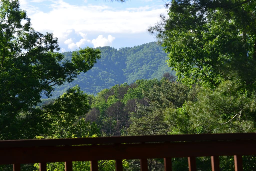 View from our covered porch