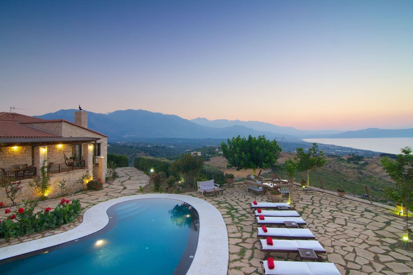 The private terrace and pool are just amazing!