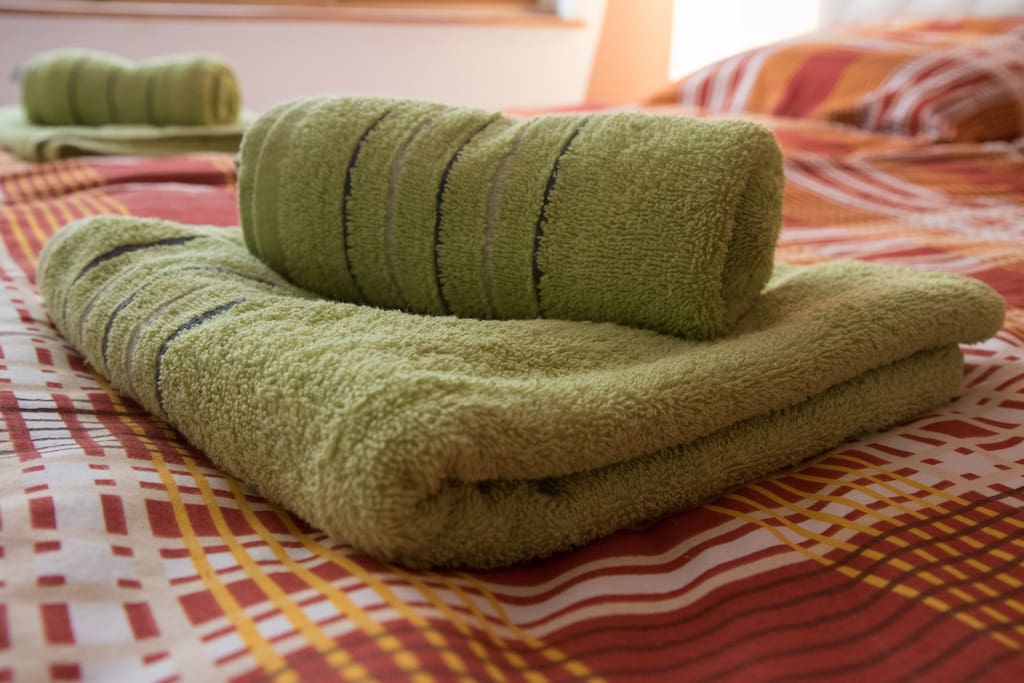 One set of towels and sheets for your stay
