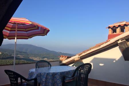 Dachterassen Rustico mit Meerblick - Gavorrano - Haus