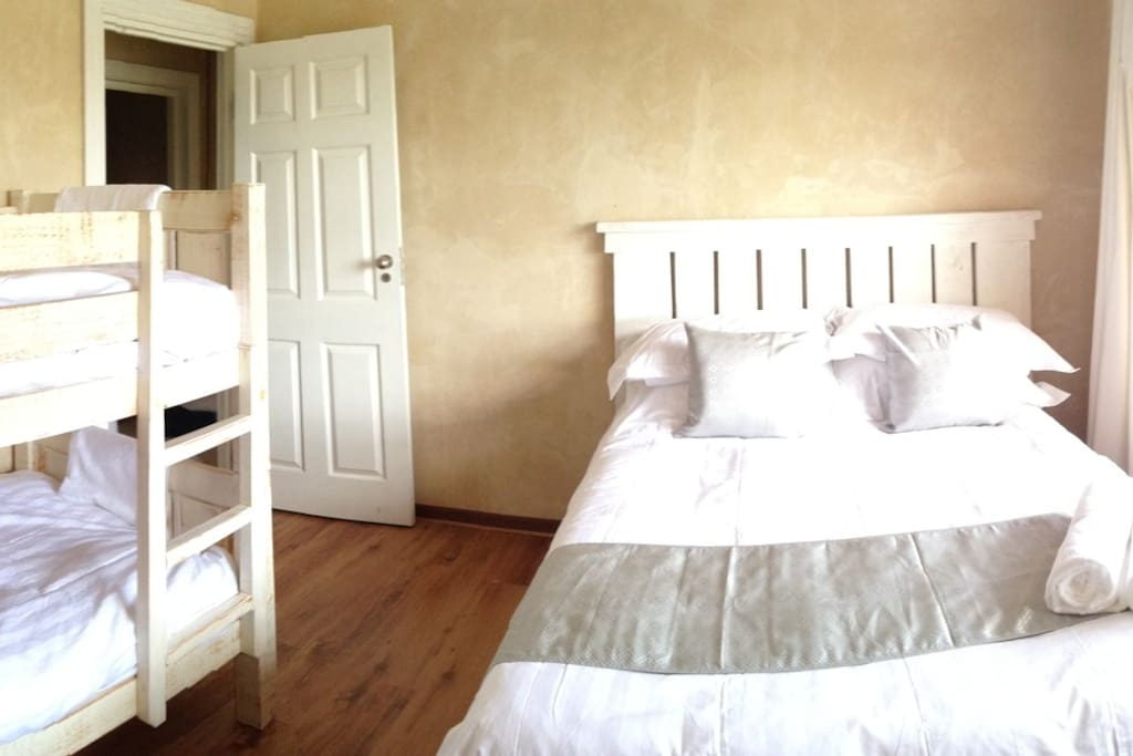 3rd Bedroom with double bed and bunk bed