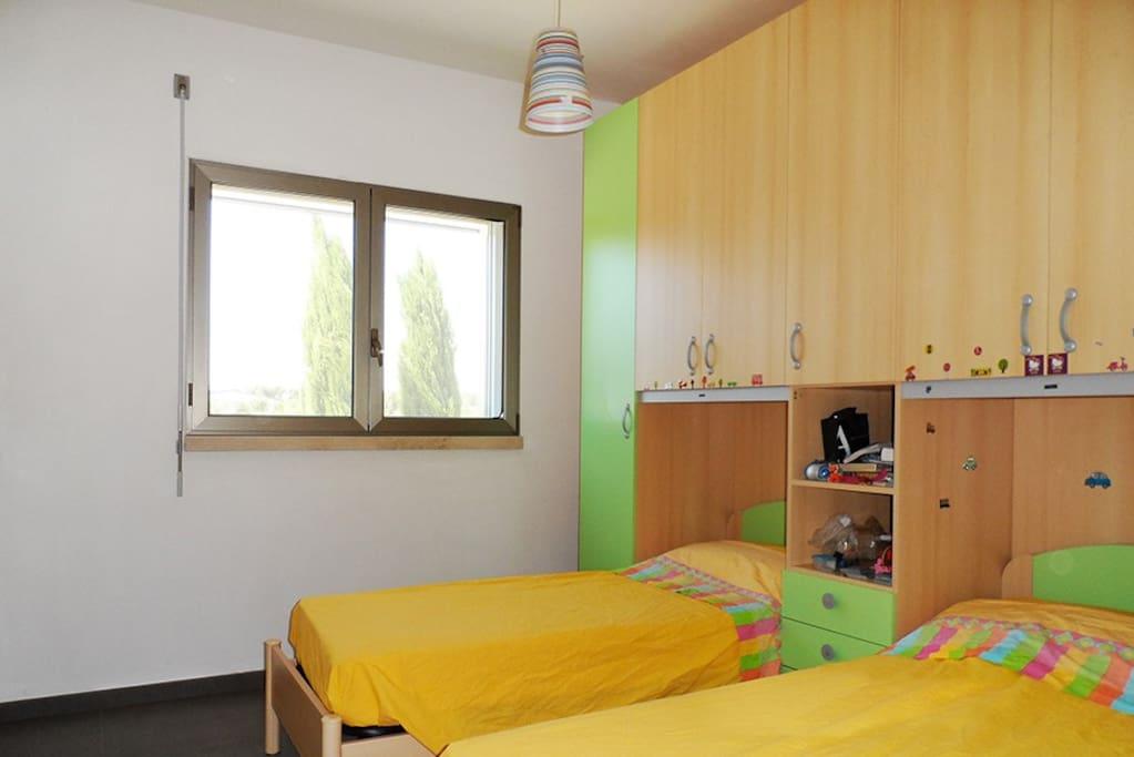 Camera da letto con 2 singoli