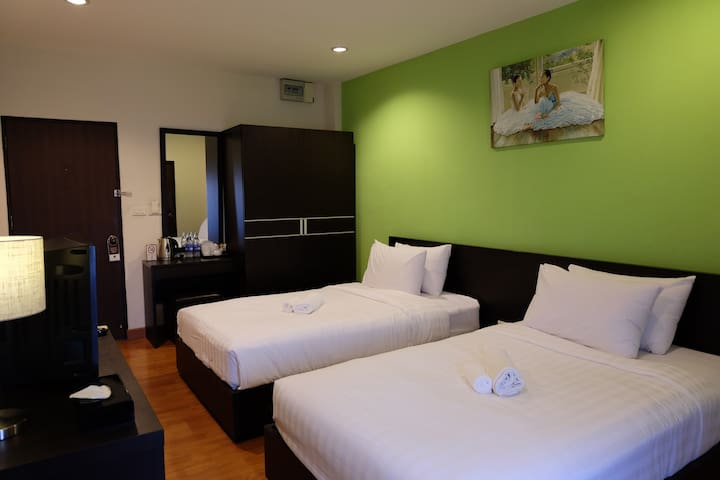 Twin Bed room - Bangkok - Departamento