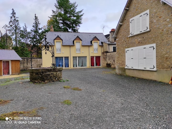 House with one bedroom in Solesmes, with furnished terrace and WiFi