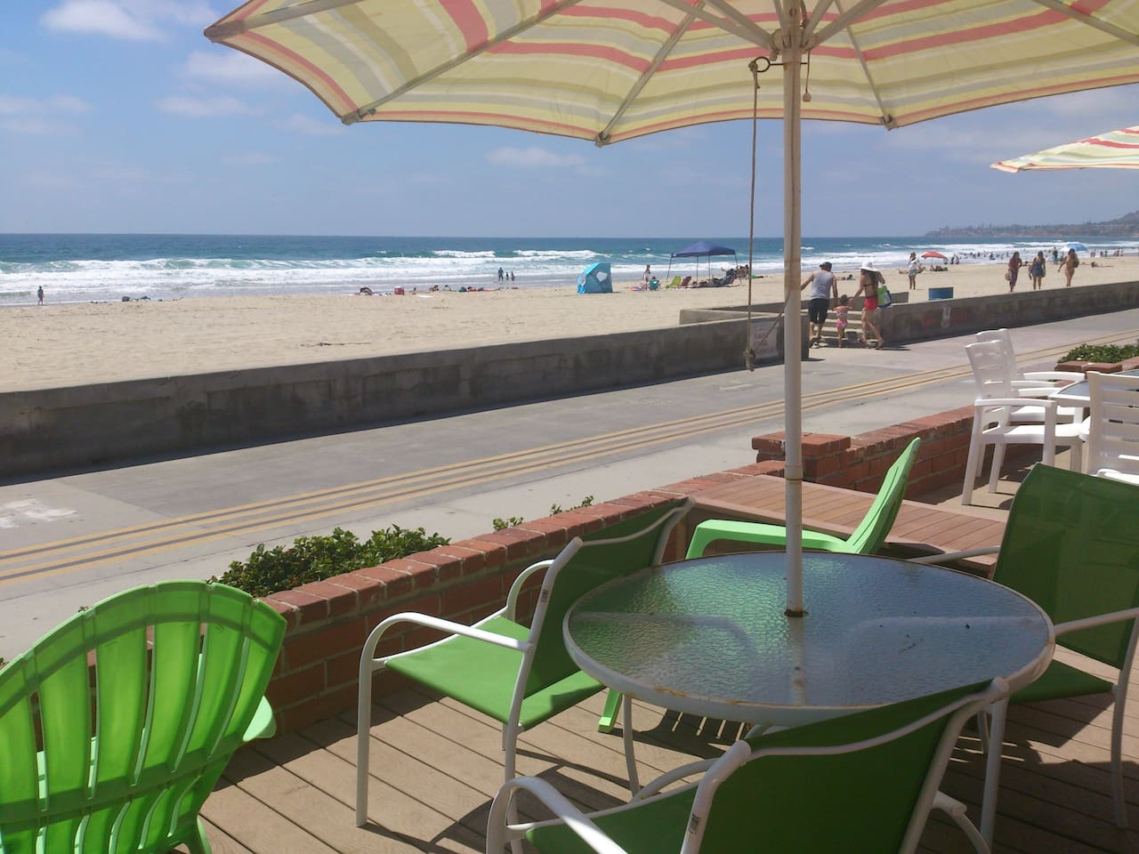 Share access to front patio bordering the boardwalk!