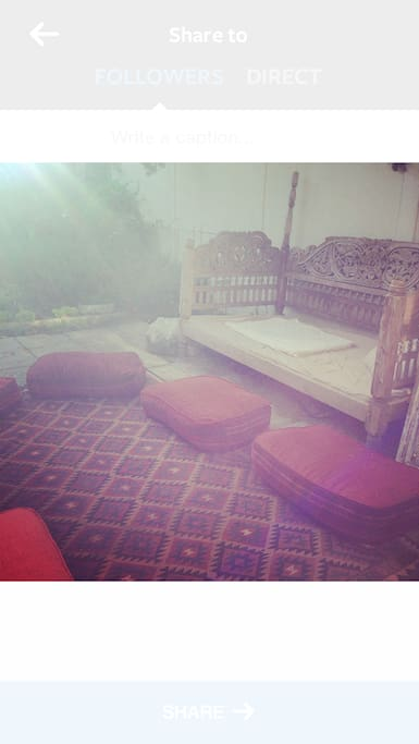 Daybed outside