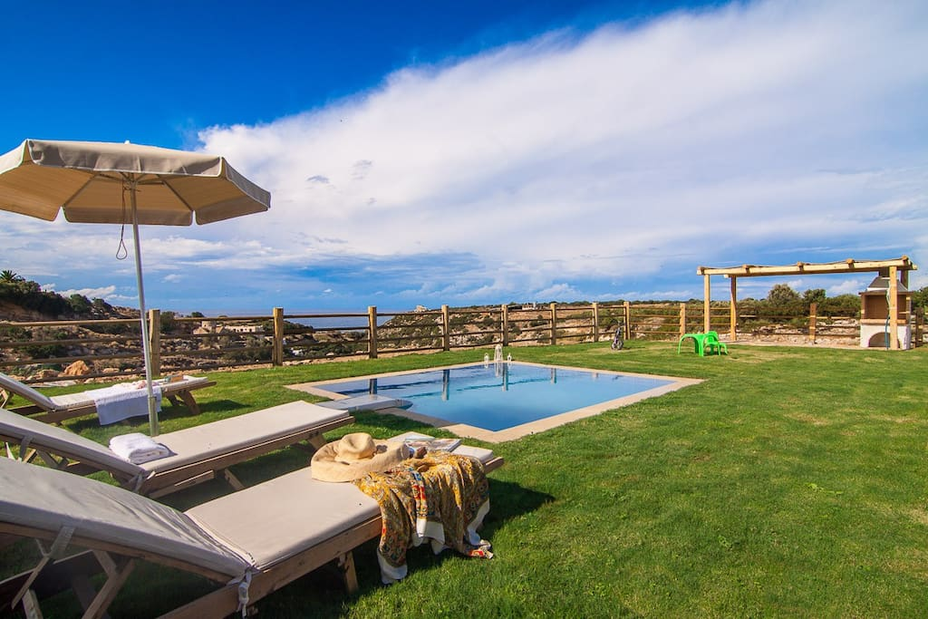 Enjoy yourselves on your own private terrace and pool!
