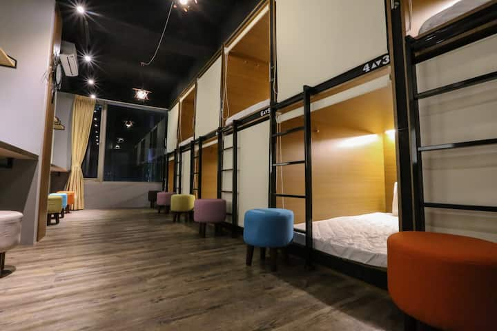 FLORA BnB混合房 (mixed dorm)*近機場捷運/近台北車站~台北跨年預定