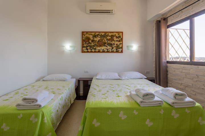 Dormitorio Climatizado. Climatized Bedroom.