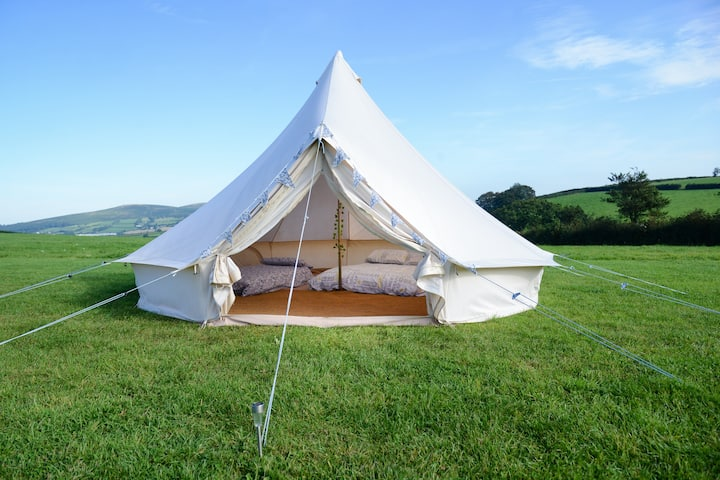 'Happily Heifer After' - 5m Furnished Bell Tent