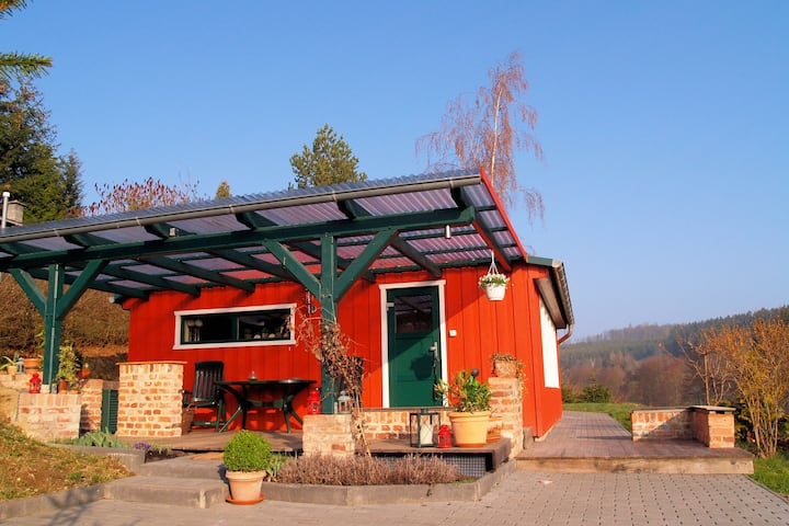 Detached holiday home in the Harz with wood stove and covered terrace