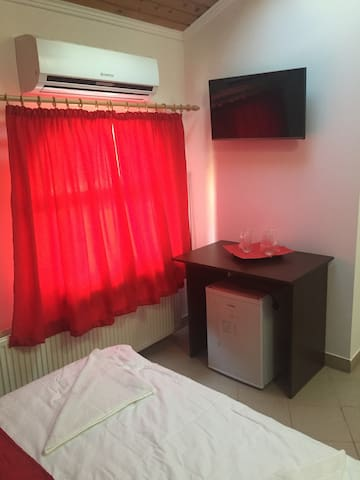 Red Bedroom in Mamaia