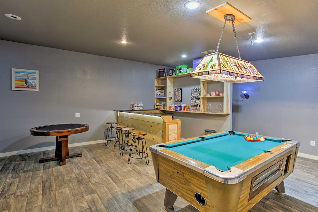 When you're not spending time outdoors, the game room offers entertainment for everyone!