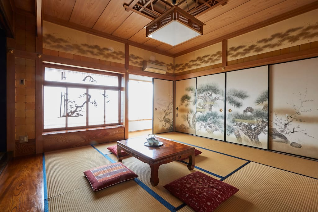 The castle atmosphere tatami room -two FUTON sets