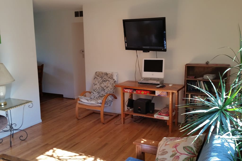 Living room and TV