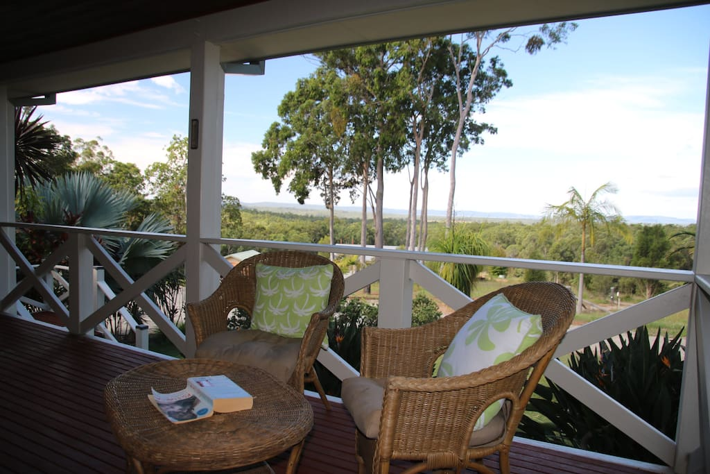 Quiet places on the deck for relaxing with a book and cuppa.