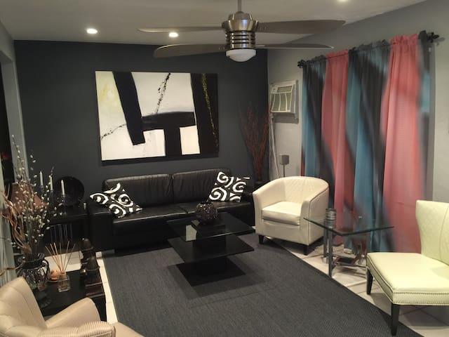 Modern chic room in Miami Shores