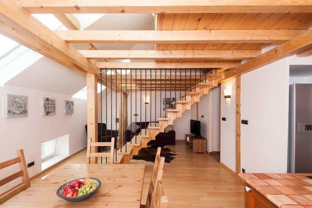 Olives ruterra loft with sauna flats for rent in prague for Prague bathhouse