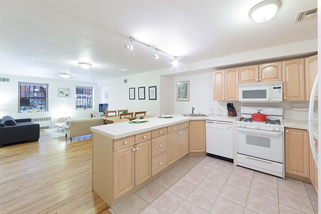 Large open kitchen