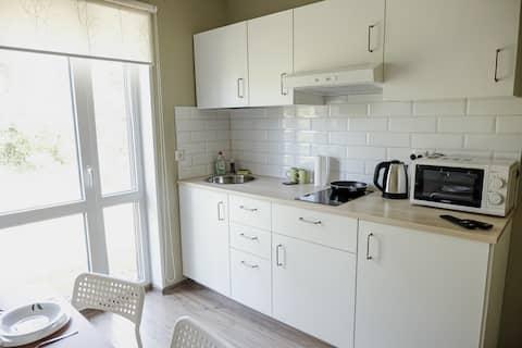 Апартаменты с сауной в скандинавском стиле