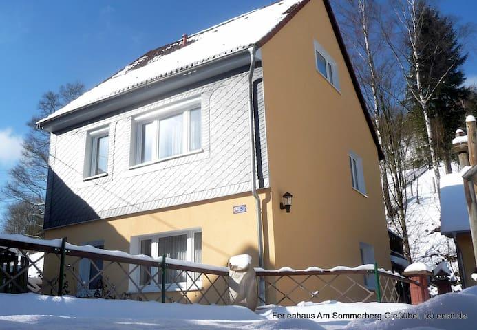 Ferienhaus*** im Thüringer Wald (4Personen, 94qm) - Schleusegrund - Huis