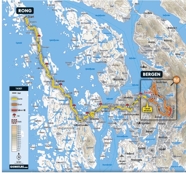 The upcoming UCI(International Cycling Union) World Championships in September will see Sotra hosting one of the courses with mapped out fan zones around Sartor Senter where cyclists will pass.