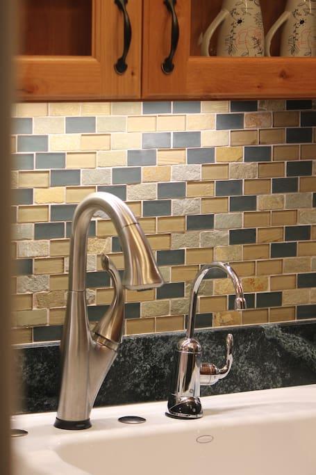 Water faucet. Water filter.