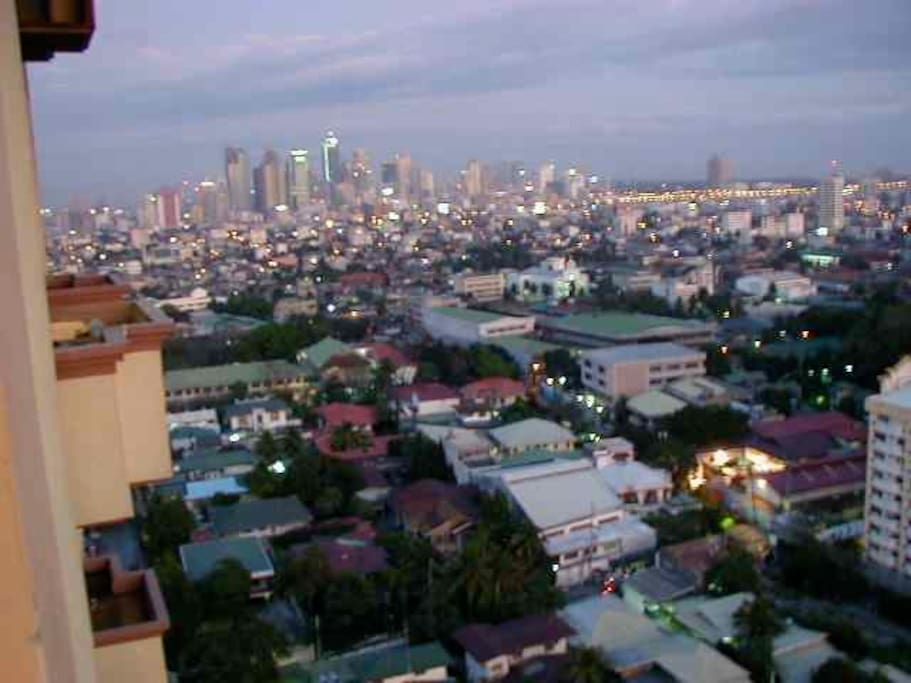 living/side view over Makati, facing airport at 30 minutes.