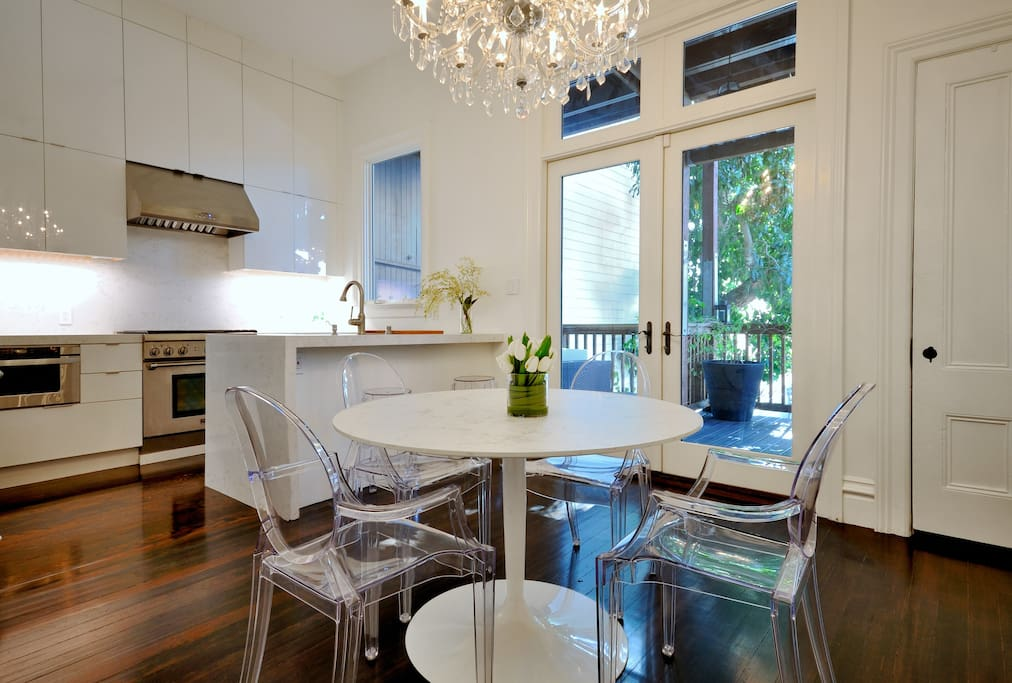Fully remodeled, chef kitchen & dining room