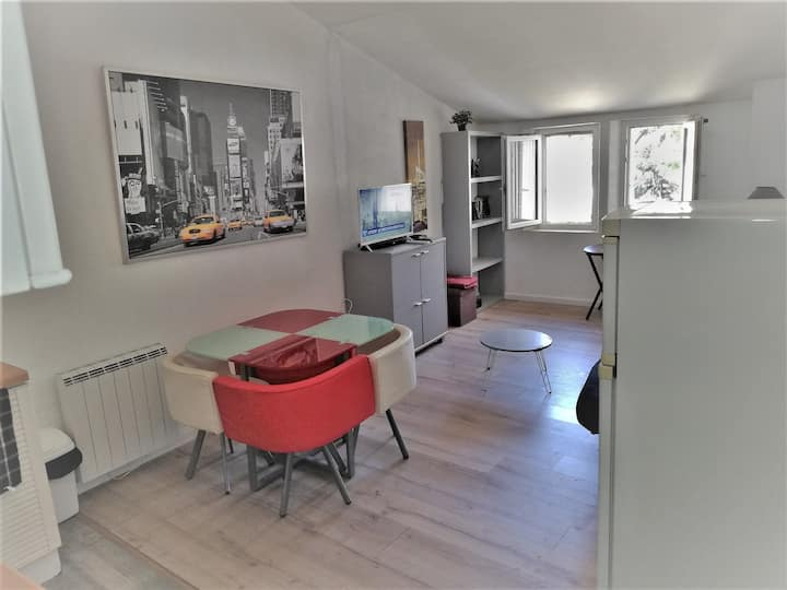 Pillement 3-One bedroom single storey quiet and sunny flat (43m2)-Optional garage-Historic Center & 25 min beaches