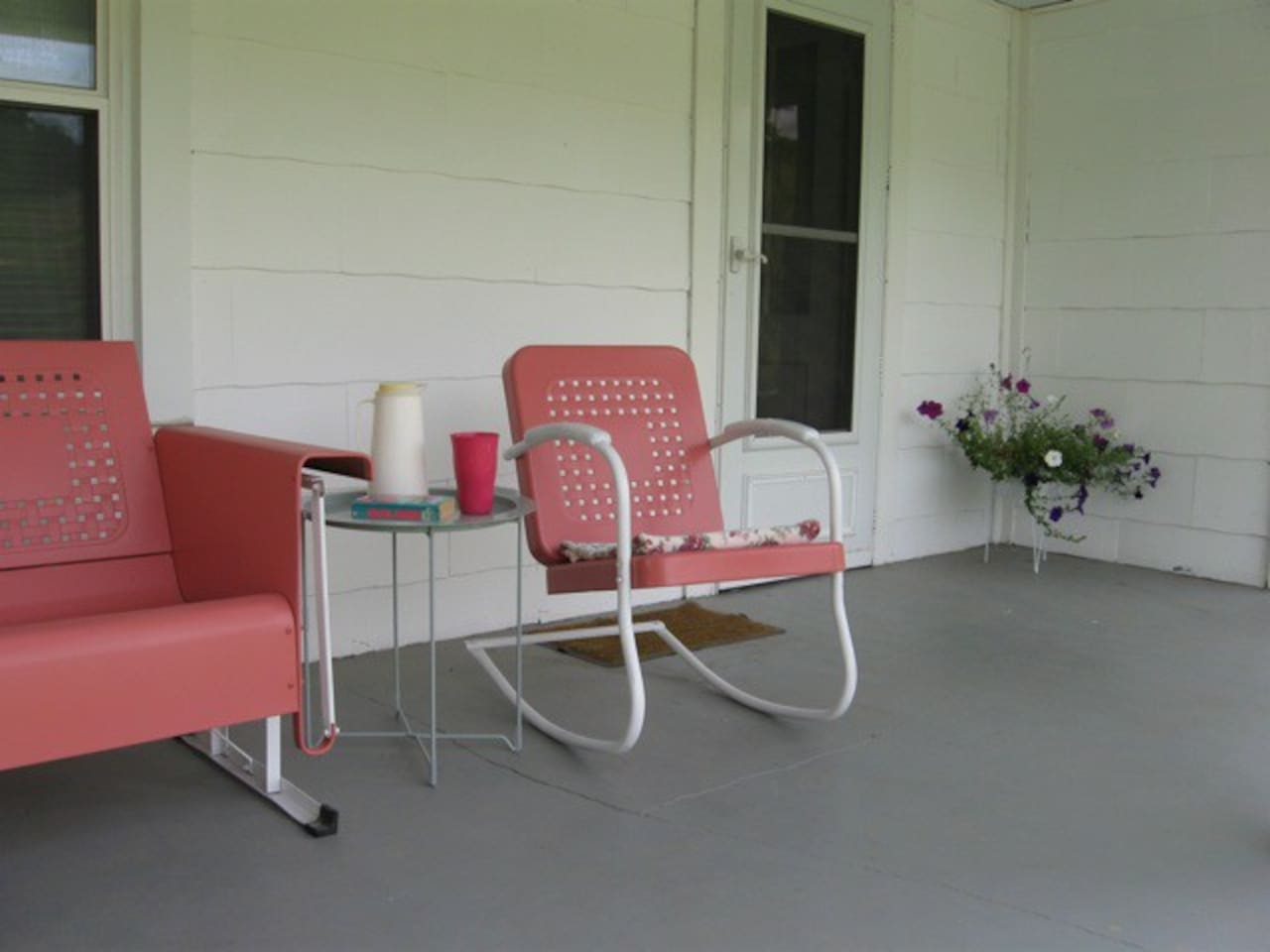 Enjoy an evening on our covered front porch.