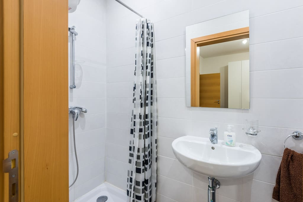 Ensuite with shower. Towels and hand soap provided.